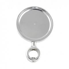 Медальон круглый хром