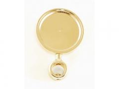 Медальон круглый, золото